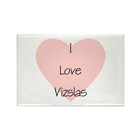 I Love Vizslas Rectangle Magnet (100 pack)