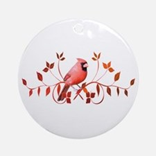 Graceful Cardinal Ornament (Round)