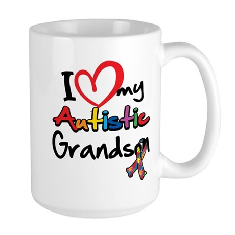 My Autistic Grandson Large Mug