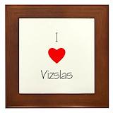 Vizsla gifts Framed Tiles