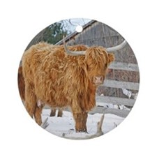 Highland Cattle Ornament (Round)