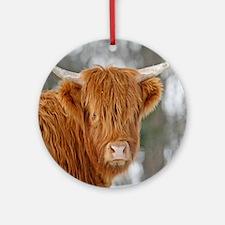 Highland Heifer Ornament (Round)