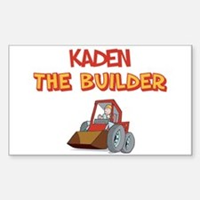 Kaden the Builder Rectangle Decal