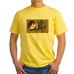 Victorian Christmas Yellow T-Shirt