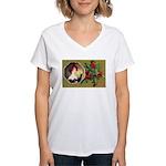 Victorian Christmas Women's V-Neck T-Shirt