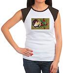 Victorian Christmas Women's Cap Sleeve T-Shirt