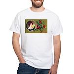 Victorian Christmas White T-Shirt