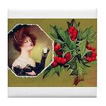 Victorian Christmas Tile Coaster