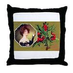 Victorian Christmas Throw Pillow