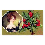 Victorian Christmas Rectangle Sticker