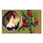 Victorian Christmas Rectangle Sticker 50 pk)