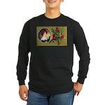 Victorian Christmas Long Sleeve Dark T-Shirt