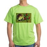 Victorian Christmas Green T-Shirt