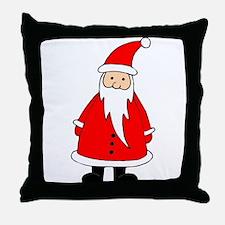 Santa Claus Illustration Throw Pillow