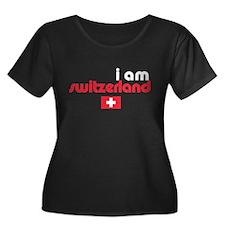 I Am Switzerland Women's Plus Size Scoop Neck Tee