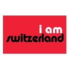I Am Switzerland Rectangle Decal