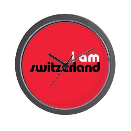 I Am Switzerland Wall Clock
