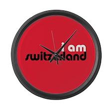 I Am Switzerland Large Wall Clock