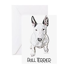 Little Bull Terrier (pencil) Greeting Card