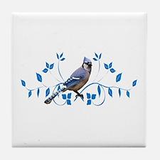 Regal Blue Jay Tile Coaster