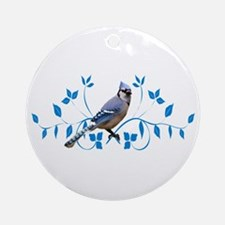 Regal Blue Jay Ornament (Round)
