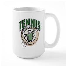 Tennis Man Serving Mug