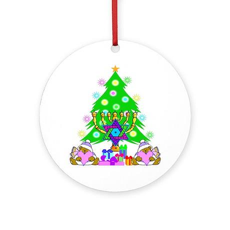 Christmas and Hanukkah Ornament (Round)