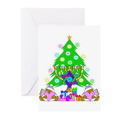 Christmas and Hanukkah Greeting Cards (Pk of 10)