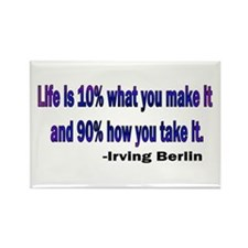 Irving Berlin quote Rectangle Magnet