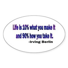 Irving Berlin quote Oval Decal