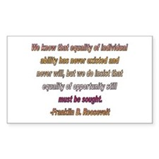 FDR quote Rectangle Decal