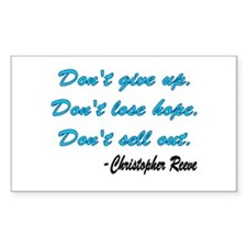Christopher Reeve quote Rectangle Decal