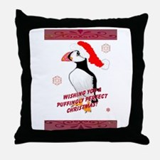 Puffingly Perfect Christmas! Throw Pillow