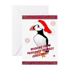 Puffingly Perfect Christmas! Greeting Card