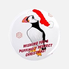 "Puffingly Perfect Christmas! 3.5"" Button (100 pack"