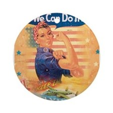 Rosie the Riveter Ornament (Round)