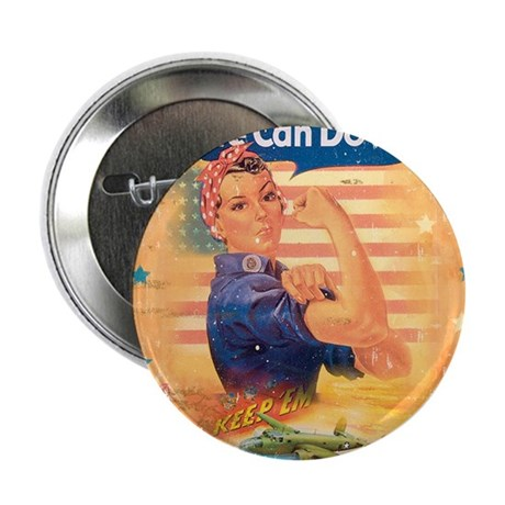 "Rosie the Riveter 2.25"" Button (10 pack)"