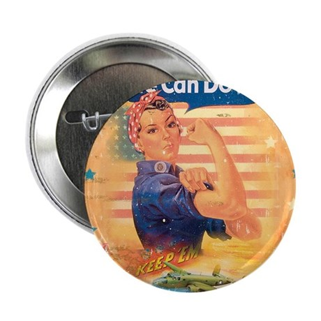 "Rosie the Riveter 2.25"" Button"
