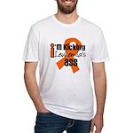 KickingLeukemiaAss Fitted T-Shirt