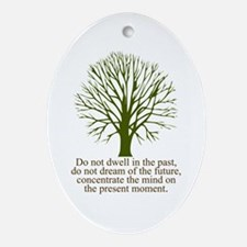 Live in the Moment Oval Ornament