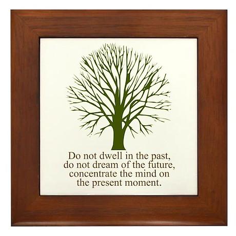 Live in the Moment Framed Tile