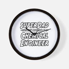 """SuperDad..Chem. Engineer"" Wall Clock"
