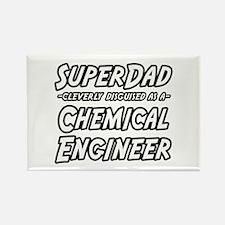 """""""SuperDad..Chem. Engineer"""" Rectangle Magnet (100 p"""