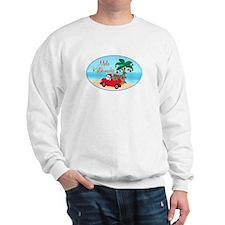 Hawaiian Christmas Santa Sweatshirt