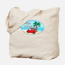 Hawaiian Christmas Santa Tote Bag