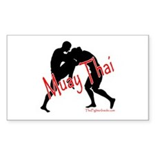 Muay Thai Rectangle Decal