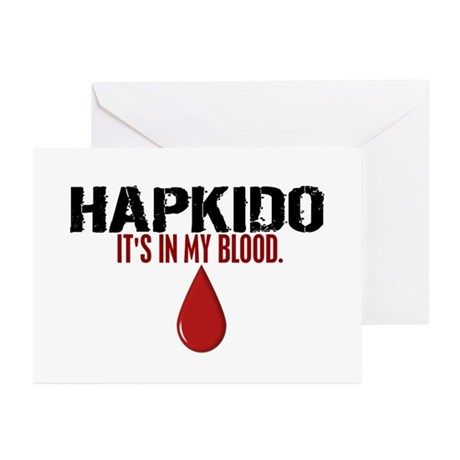 In My Blood (Hapkido) Greeting Cards (Pk of 10)