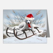 Great Pyrenees Sleigh Ride Note Cards (Pk of 20)