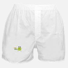 "Cute Frog & ""Think Green"" Boxer Shorts"