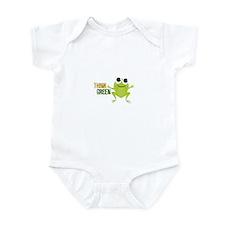 "Cute Frog & ""Think Green"" Infant Bodysuit"